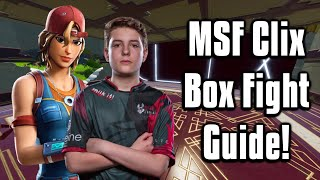 How To Box Fight Like MSF Clix! - Fortnite Battle Royale