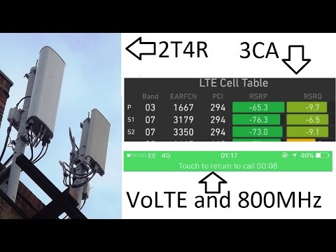 EE 2016 New Network Technologies Review: VoLTE 3CA, 2T4R, 800MHz 4G
