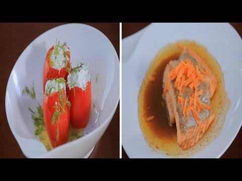 سمك سالمون بالخل البلسمي - طماطم محشية ساور كريم : شبكة و صنارة حلقة كاملة
