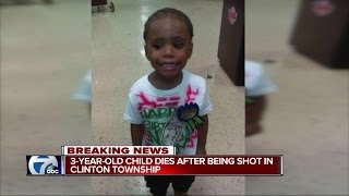3-year-old child dies after being shot in Clinton Township
