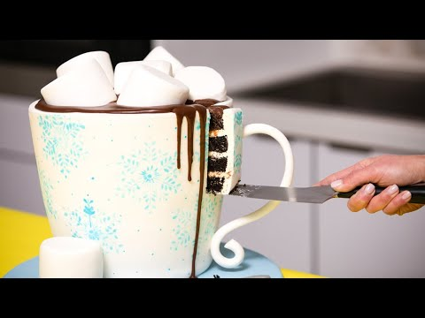 Hot Chocolate Made Of CAKE & More Cozy Winter Baking Ideas | How To Cake It Step By Step