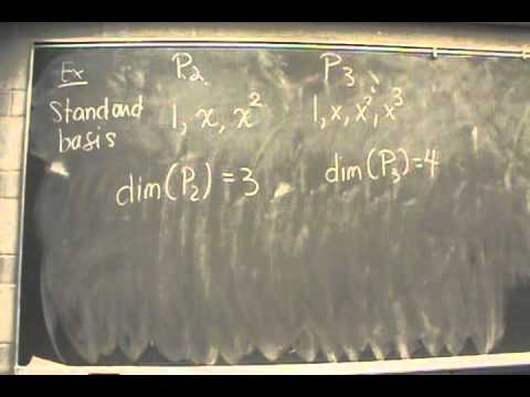 MATH 2203 - Basis and Dimension 1