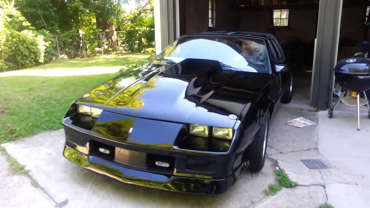 1987 Iroc Z Camaro >> New paint Ferrari Black 1987 Camaro IROC Z28 - YouTube