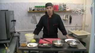 Видео уроки. Приготовление салата Цезарь