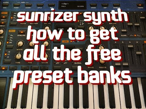 SUNRIZER Synth - How To Get ALL The FREE Preset Packs - iPad Demo