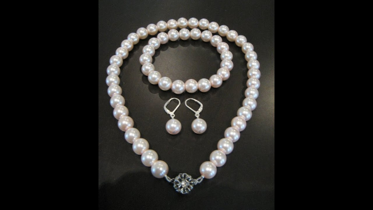 How to make a pearl necklace youtube