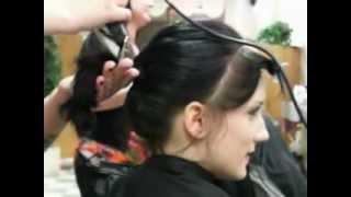 haircut curly hair  to a chelsea cut