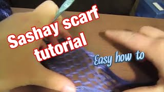 How to Make a Sashay Scarf