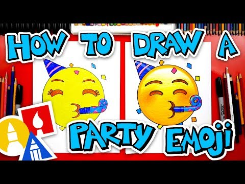 how-to-draw-the-party-emoji-face-🥳-+-spotlight