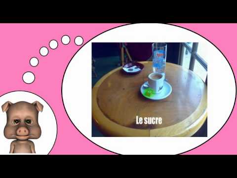 My video French lesson # At the café
