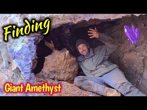 Amethyst Crystal Mining 300 Pound Cluster | Amazing Rockhound Adventure In Canada