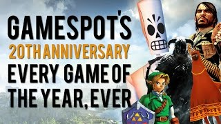 Every Game of the Year Ever - GameSpot 20th Anniversary