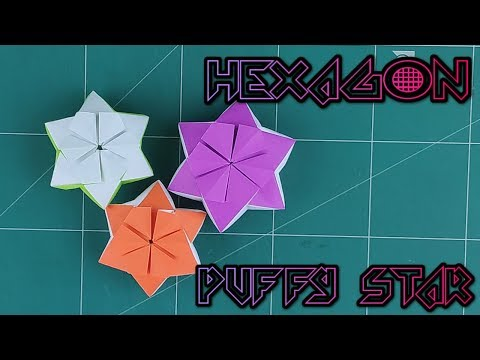 How to Make A Paper Stars Tutorial - Easy Origami Lucky Hexagon Puffy Star | DIY Paper Craft Ideas