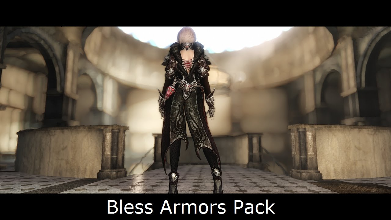 Skyrim Mods: Bless Armors Pack Retouched (CBBE Bodyslide)