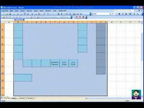 microsoft excel 02 create a seating chart youtube