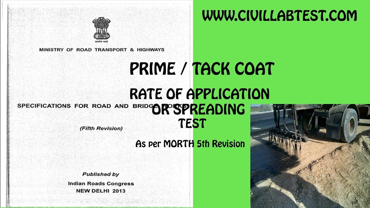Prime Coat / Tack Coat Rate of Application / Spreading Test | asphalt,  Bitumen emulsion,Construction
