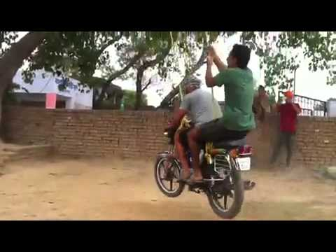 bike funny stunts punjab by umesh majumdar
