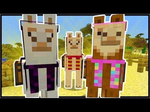 Minecraft 1.11 LLAMAS   Shulker Box, Observer Block, Curse Enchantments, Tamable Llama