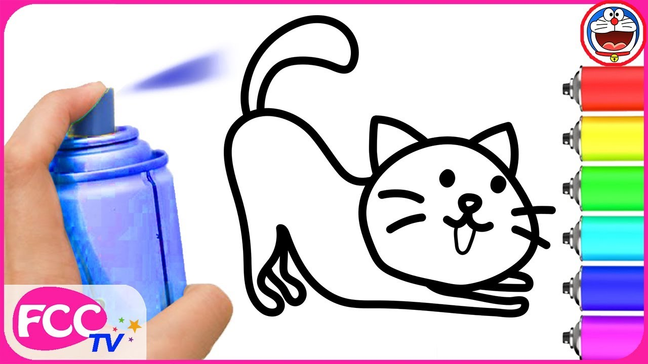 baby learn how to draw kitty cats coloring book for learning