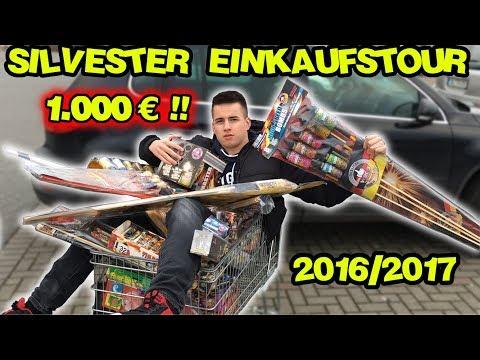 Die GRÖSSTE SILVESTER FEUERWERK EINKAUFSTOUR 2016/2017 | 1000€ ! | MrPyroManager