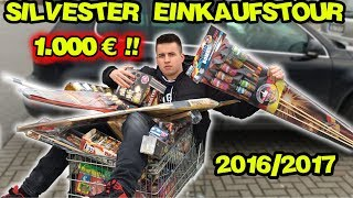 Die GRÖSSTE SILVESTER FEUERWERK EINKAUFSTOUR 2016/2017   1000€ !   MrPyroManager