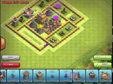 clash of clans th7 noob trolling base - YouTube