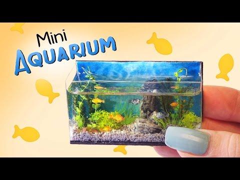 Miniature Aquarium Tutorial // DIY Dolls/Dollhouse