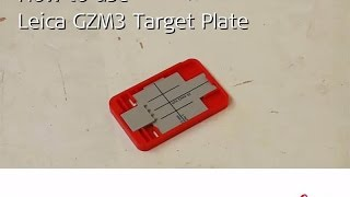 Leica DISTO™ – How to use Leica GZM3 Target Plate