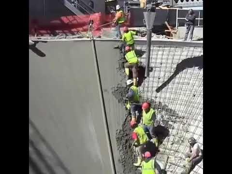 Conical Concrete Pour