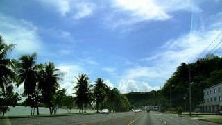 Guam Hagatna Bay Driving