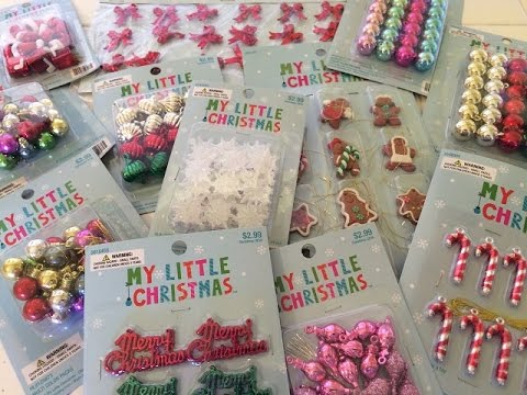 Hobby Lobby Christmas Haul 2016 My Little Christmas Minis