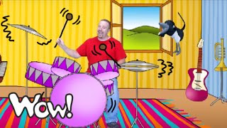 Play the Drums with Steve | English For Children | English For Kids