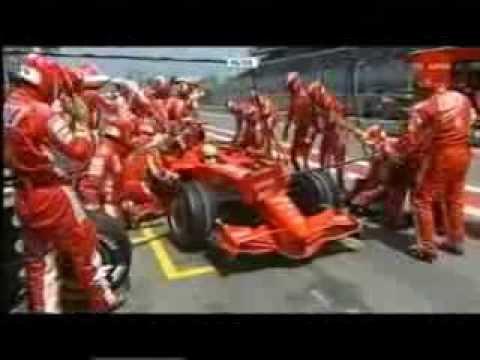 F1 2007 Spain - Felipe Massa - Pit stop fire - YouTube