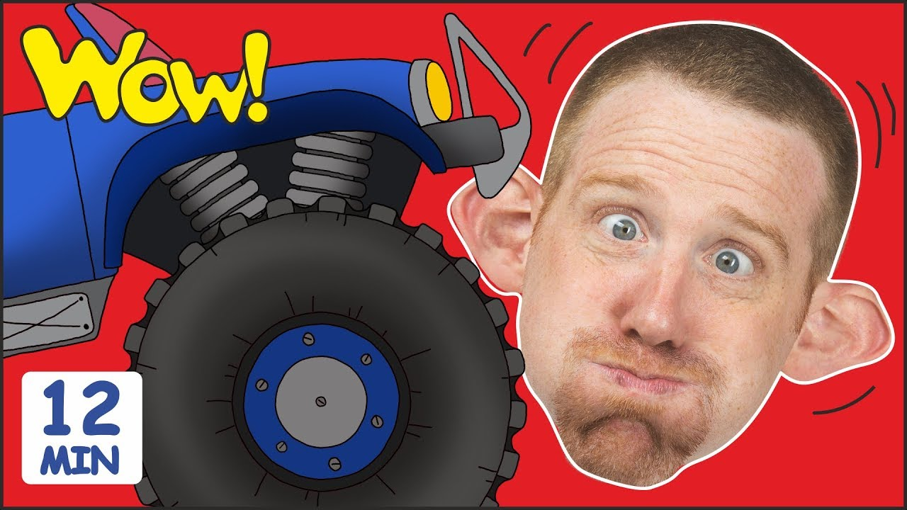 4a47efa6 Monster Trucks Toys for Children + MORE Stories for Kids | Steve and Maggie  by Wow English TV