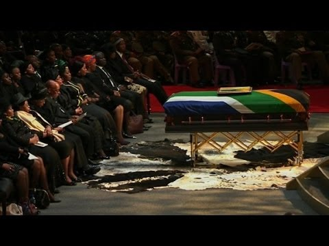 Nelson Mandela funeral farewell in Qunu