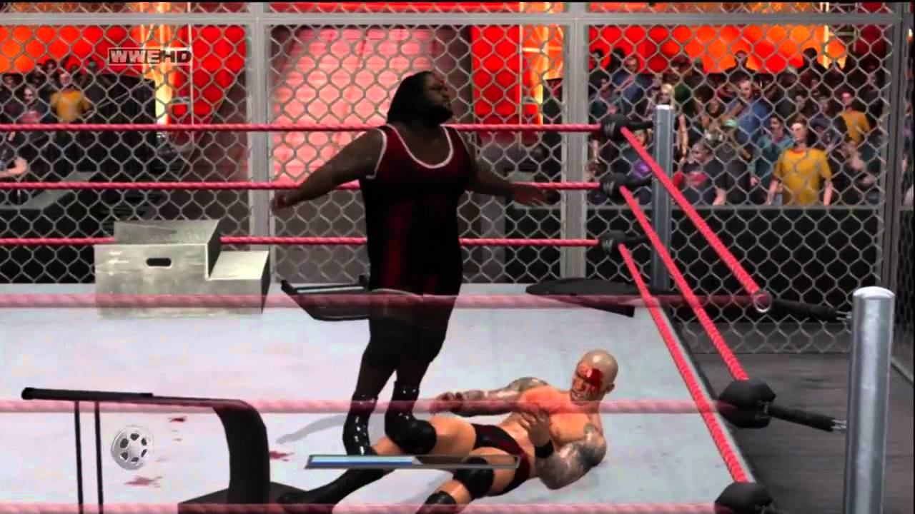 WWE Hell In A Cell 2011 WWEPG Mark Henry Vs Randy Orton Part 3