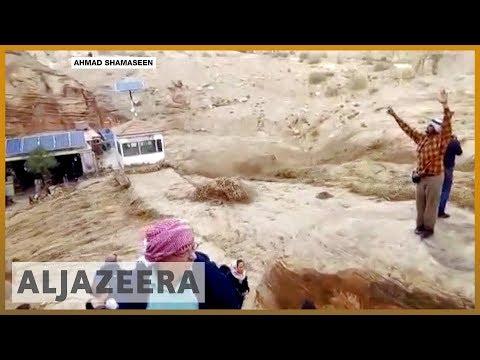 🇯🇴 Jordan rains and floods kill 12, force tourists to flee Petra   Al Jazeera English
