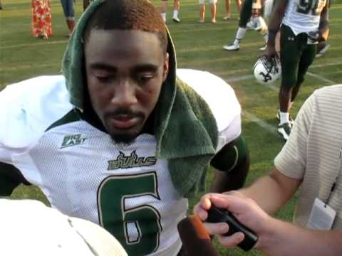USF Football: Green and Gold Bowl - Kayvon Webster