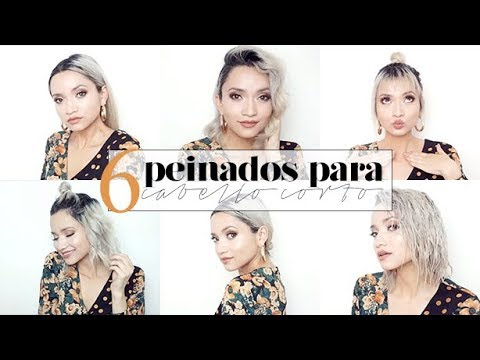 6 Peinados Para Cabello Corto Bob Hairstyles Teffa Sierra Youtube