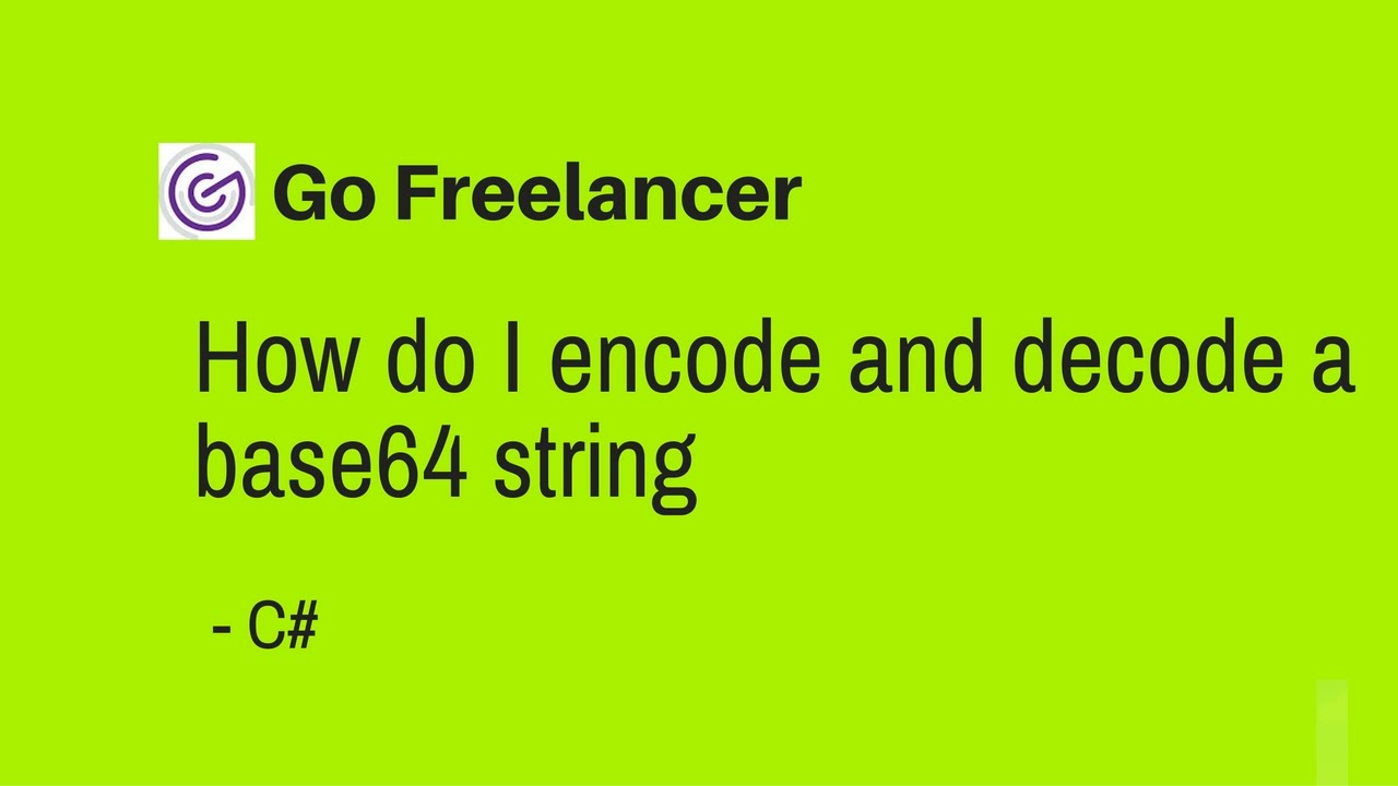 How do I encode and decode a base64 string