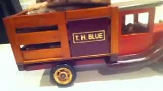 Wooden Toy Truck Antique Replica