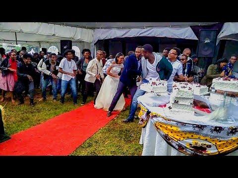Hyped Up Kenyan Wedding Flashmob Dance ; Kevin & Joy 170318