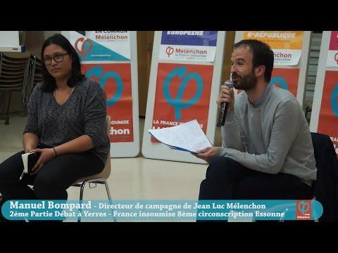 2 Manuel Bompard Yerres débat public 22 mars 2017 France insoumise Mélenchon présidentielle Essonne
