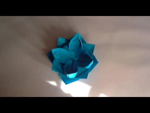 Origami Lotus Fleur Flower Youtube