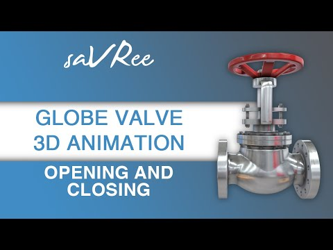 Globe Valve 3D Animation - Opening and Closing