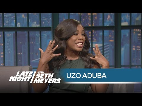 Uzo Aduba: Proud Member of Taylor Swift's Squad  Late Night with Seth Meyers