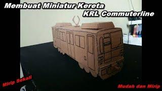 Download Video Cara Membuat Miniatur Kereta KRL Commuterline Indonesia Dari Kardus | Ide Kreatif MP3 3GP MP4