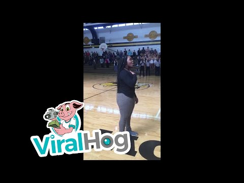 National Anthem Without Microphone || ViralHog