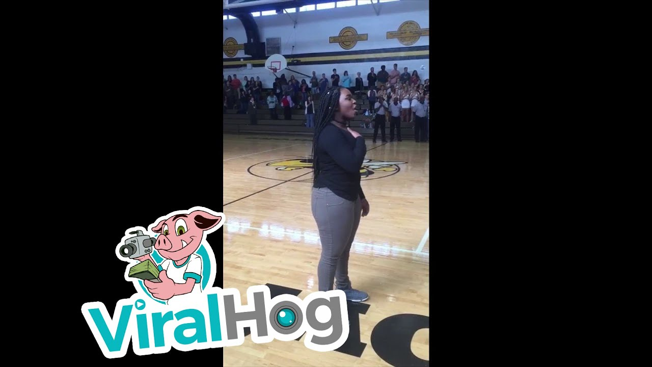 National Anthem Without Microphone