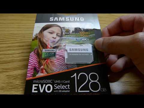 Yi 4K+ 128GB Samsung Evo Select MicroSD Card WORKS